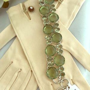 Jewelry - 925 Sterling Silver Bracelet Green Amethyst NWOT